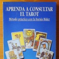 Mazzi di carte: APRENDA A CONSULTAR EL TAROT HAJO BANZHAF MÉTODO PRÁCTICO CON LA BARAJA DE RIDER EDAF 2006. Lote 281994983