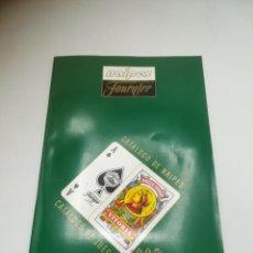 Barajas de cartas: FOURNIER. CATALOGO DE BARAJAS. 1995. ORIGINAL Y BUEN ESTADO. VER FOTOS. Lote 284079933
