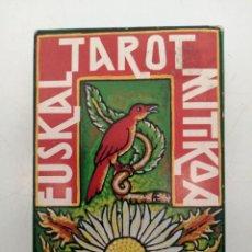 Mazzi di carte: TAROT EUSKAL MITIKOA FOURNIER 1982, (INSTRUCIONES), POCO USO, COMPLETO, (12X8). Lote 284742388