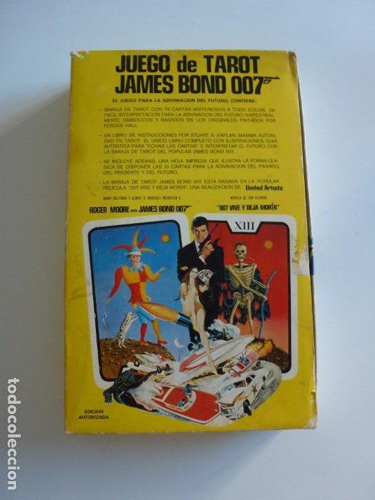 BARAJA TAROT JAMES BOND 007 DE FOURNIER - COMPLETO DE 1973 - CAJA INSTRUCCIONES, BARAJA Y TABLERO (Juguetes y Juegos - Cartas y Naipes - Barajas Tarot)