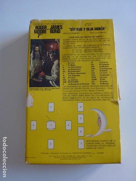 Barajas de cartas: Baraja TAROT JAMES BOND 007 DE FOURNIER - COMPLETO DE 1973 - CAJA INSTRUCCIONES, BARAJA Y TABLERO - Foto 2 - 284777183