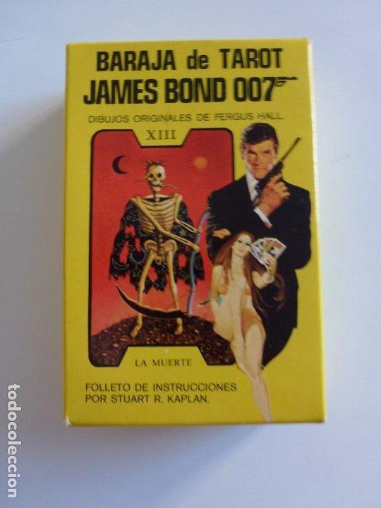 Barajas de cartas: Baraja TAROT JAMES BOND 007 DE FOURNIER - COMPLETO DE 1973 - CAJA INSTRUCCIONES, BARAJA Y TABLERO - Foto 4 - 284777183