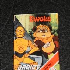 Jeux de cartes: BARAJA CARTAS - EWOKS DROIDS- STAR WARS COMPLETA - FOURNIER 1986 - MUY BUEN ESTADO. Lote 285276613