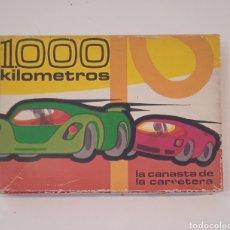 Barajas de cartas: ANTIGUO JUEGO DE CARTAS DE LOS 1000 KILÓMETROS - HERACLIO FOURNIER 1964 - VER TODAS LAS FOTOS. Lote 285381113