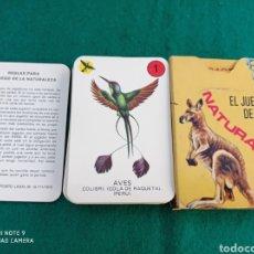 Barajas de cartas: BARAJA INFANTIL EL JUEGO DE LA NATURALEZA COMPLETA +REGLAMENTO DE JUEGO. Lote 285388163