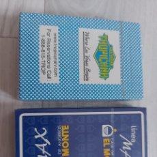 Baralhos de cartas: 2 BARAJAS NAIPES TROPICANA Y EL MONTE (FOURNIER). Lote 285465853