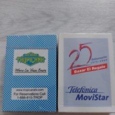 Baralhos de cartas: 2 BARAJAS NAIPES LAS VEGAS Y MOVISTAR. Lote 285466158
