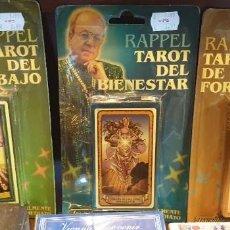 Mazzi di carte: LOTE DE 3 BARAJAS DE TAROT RAPPEL TRABAJO BIENESTAR Y FORTUNA. Lote 285530418