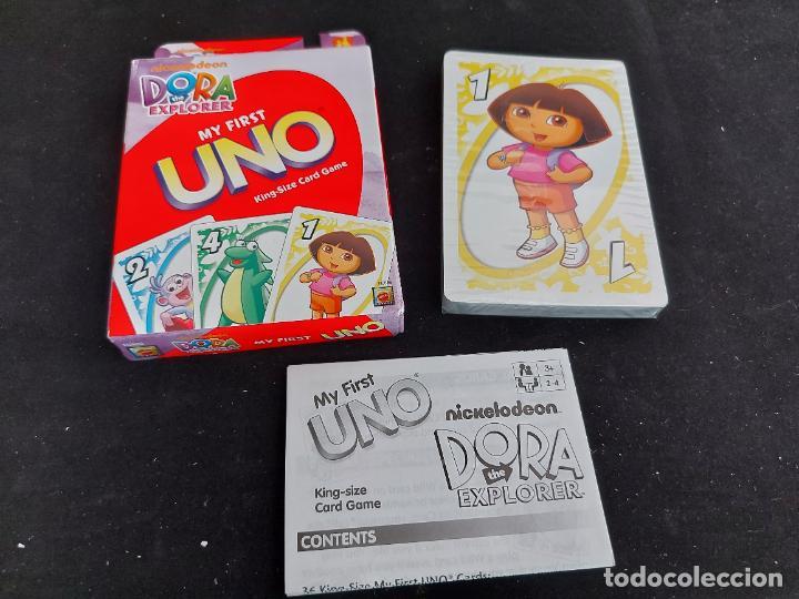 BARAJA UNO / DORA LA EXPLORADORA / MATTEL-DISNEY-2009 / PRECINTADA A ESTRENAR. INSTRUCCIONES. (Juguetes y Juegos - Cartas y Naipes - Barajas Infantiles)