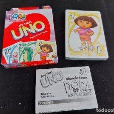 Barajas de cartas: BARAJA UNO / DORA LA EXPLORADORA / MATTEL-DISNEY-2009 / PRECINTADA A ESTRENAR. INSTRUCCIONES.. Lote 285991013