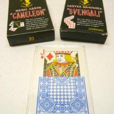 Barajas de cartas: LOTE CARTAS MAGIA - SVENGALI CAMELEON Y TRES. Lote 286197178