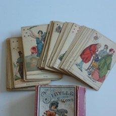 Barajas de cartas: BARAJA TAROT GRIMAUD 1890 CARTAS ADIVINATORIAS- LA SIBYLLE DES SALONS - COMPLETA 52 CARTAS - RARO. Lote 286509113