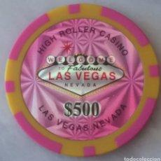 Barajas de cartas: LAS VEGAS. 4 FICHAS DE CASINO 500$. Lote 286538358