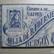 Barajas de cartas: ANTIGUA BARAJA HIJA DE FOURNIER FABRICA DE NAIPES DE BURGOS AÑO 1930 FLORETE Nº 14. Lote 287094768