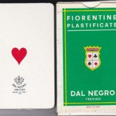 Barajas de cartas: BARAJA DE POKER ITALIANA NUMERO 20 DAL NEGRO- TREVISO - FIORENTINO PLASTIFICATE. Lote 287351058