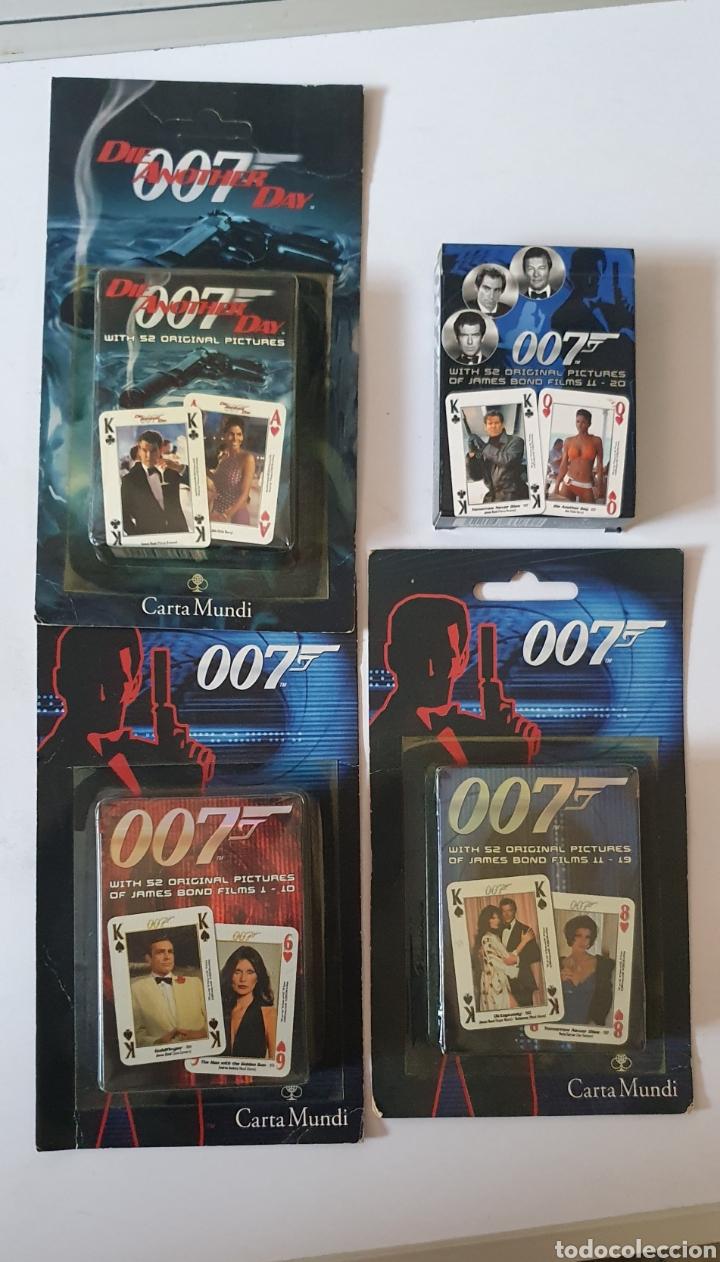 BARAJAS 007, LOTE DE 4 DIFERENTES (Juguetes y Juegos - Cartas y Naipes - Barajas de Póker)