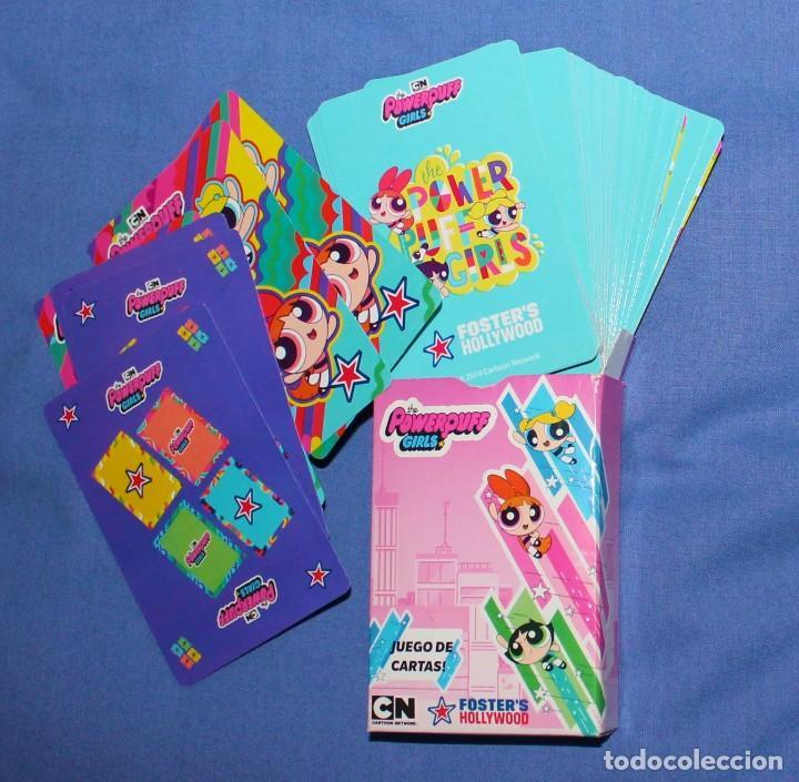 RESERVADO. BARAJA POWERPUFF GIRLS, FOSTER HOLLYWOOD, 54 CARTAS (Juguetes y Juegos - Cartas y Naipes - Barajas Infantiles)