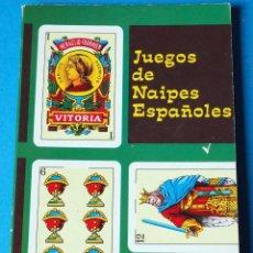Barajas de cartas: LIBRO JUEGOS DE NAIPES ESPAÑOLES 1969. UNDESIMA EDICIÓN. EDITOR HERACLIO FOURNIER. Lote 287944408