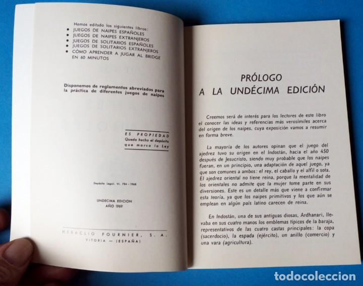 Barajas de cartas: LIBRO JUEGOS DE NAIPES ESPAÑOLES 1969. UNDESIMA EDICIÓN. EDITOR HERACLIO FOURNIER - Foto 3 - 287944408