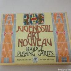 Barajas de cartas: JUGENDSTIL ART NOUVEAU PIATNIK DOBLE BARAJA DE POKER. Lote 287958733