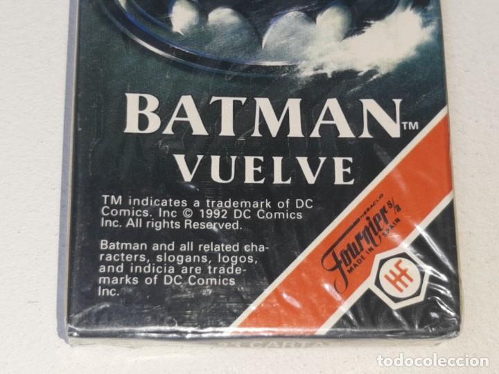 Barajas de cartas: FOURNIER : ANTIGUA BARAJA INFANTIL BATMAN RETURNS - BATMAN VUELVE - PRECINTADA AÑO 1992 - Foto 2 - 287970713