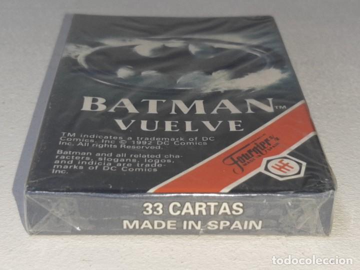 Barajas de cartas: FOURNIER : ANTIGUA BARAJA INFANTIL BATMAN RETURNS - BATMAN VUELVE - PRECINTADA AÑO 1992 - Foto 5 - 287970713