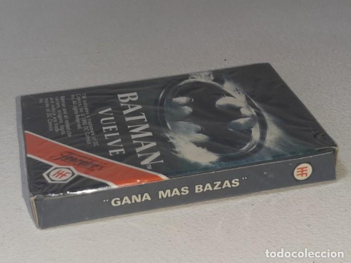 Barajas de cartas: FOURNIER : ANTIGUA BARAJA INFANTIL BATMAN RETURNS - BATMAN VUELVE - PRECINTADA AÑO 1992 - Foto 6 - 287970713