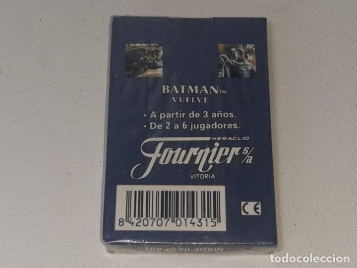 Barajas de cartas: FOURNIER : ANTIGUA BARAJA INFANTIL BATMAN RETURNS - BATMAN VUELVE - PRECINTADA AÑO 1992 - Foto 8 - 287970713