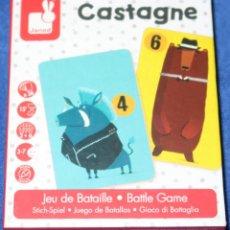 Barajas de cartas: CASTAGNE - BATTLE GAME - JANOD (2017). Lote 288348183