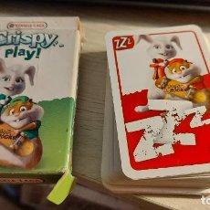 Barajas de cartas: BARAJA DE CARTAS DE CRISPY PLAY DE DIBUJS ANIMADOS. Lote 288377763