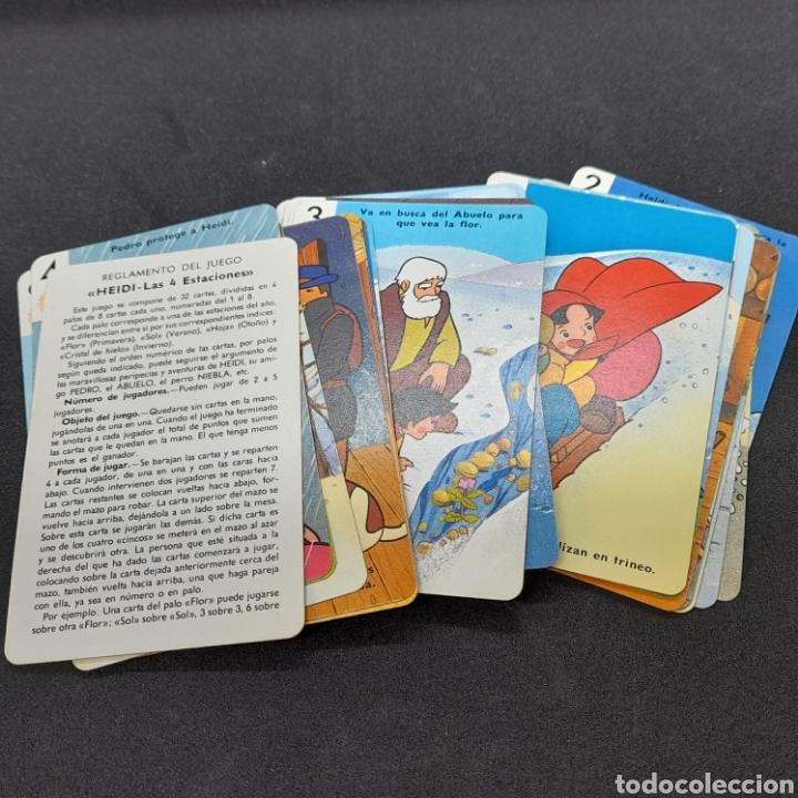Barajas de cartas: ANTIGUA BARAJA DE CARTAS DE FOURNIER. HEIDI. LAS 4 ESTACIONES. COMPLETA. AÑOS 70 - Foto 2 - 288383233