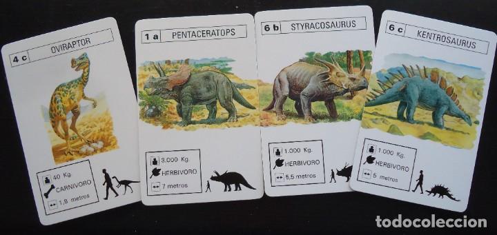 Barajas de cartas: baraja catetos fournier dinosaurios saurio vitoria alava juguete egb española carta naipe españa - Foto 2 - 288429673