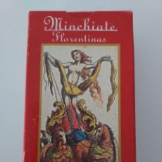 Barajas de cartas: MINCHIATE FLORENTINAS BARAJA DE TAROT ORBIS FABBRI 2001 PERFECTO ESTADO. Lote 288683448
