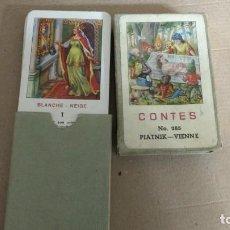 Barajas de cartas: ANTIGUA BARAJA FAMILIAS DE CUENTOS DE HADAS -DE GRIMMS NO. 285 PIATNIK -ORIGINAL AÑOS 40. Lote 288707153