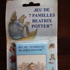 Barajas de cartas: BARAJA DE CARTAS FRANCESA DE PETER RABIN DE BEATRIX PORTER. 7 FAMILIAS EN SU BLÍSTER. VER FOTOS.. Lote 288708743