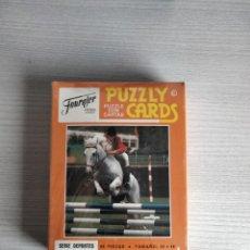 Barajas de cartas: ANTIGUO PUZZLY CARD HÍPICA FOURNIER. Lote 289482543