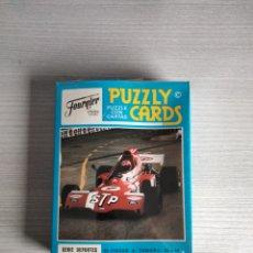 Barajas de cartas: ANTIGUO PUZZLY CARD FOURNIER CARRERAS DE COCHES. Lote 289482993