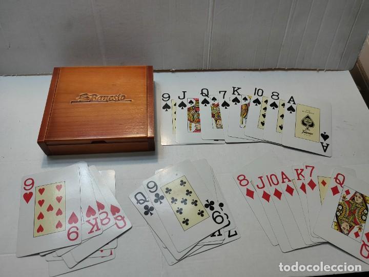 BARAJA PUBLICIDAD BANESTO EN CAJA ORIGINAL DE MADERA (Juguetes y Juegos - Cartas y Naipes - Barajas de Póker)