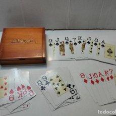 Barajas de cartas: BARAJA PUBLICIDAD BANESTO EN CAJA ORIGINAL DE MADERA. Lote 289537058