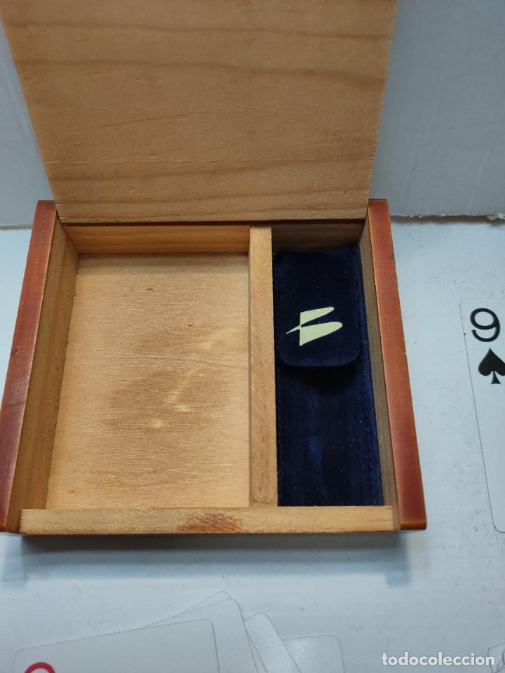 Barajas de cartas: Baraja publicidad Banesto en caja original de madera - Foto 2 - 289537058
