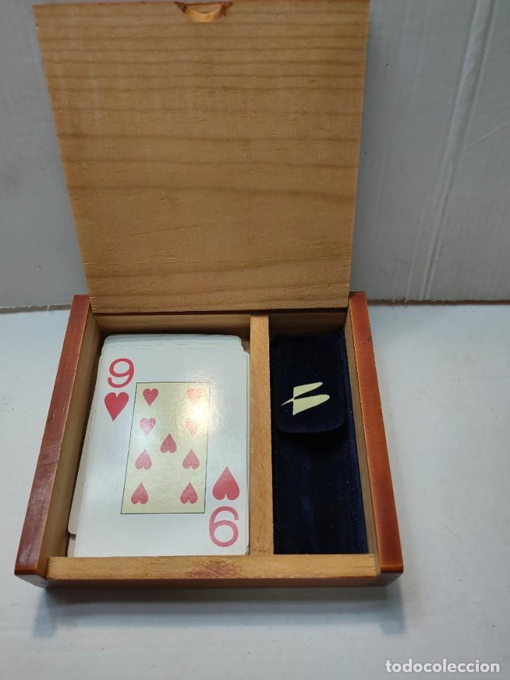 Barajas de cartas: Baraja publicidad Banesto en caja original de madera - Foto 7 - 289537058