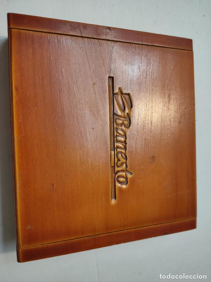 Barajas de cartas: Baraja publicidad Banesto en caja original de madera - Foto 8 - 289537058