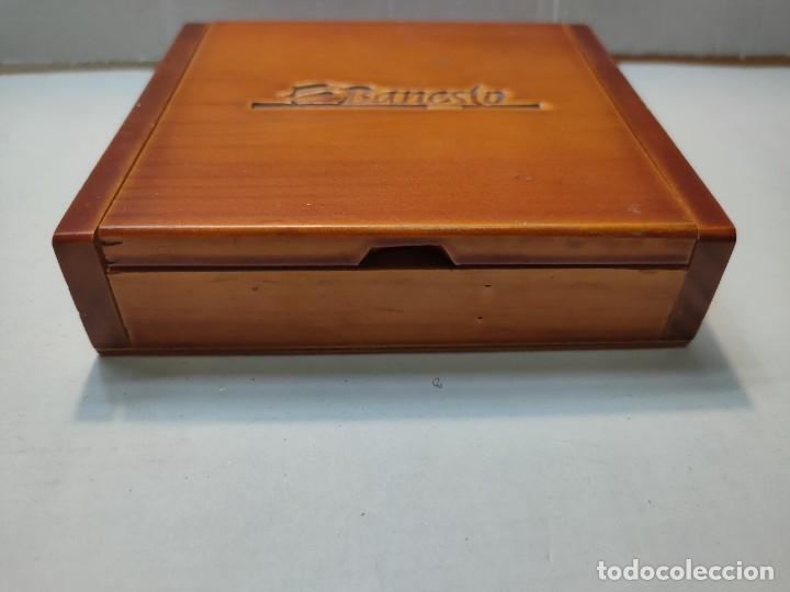 Barajas de cartas: Baraja publicidad Banesto en caja original de madera - Foto 9 - 289537058