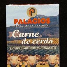 Barajas de cartas: BARAJA / CHORIZO Y CARNE DE CERDO PALACIOS / PRECINTADA SIN ABRIR.. Lote 289741568