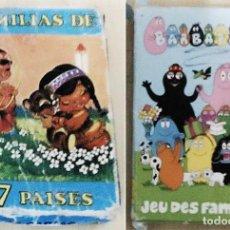Jeux de cartes: 2 BARAJAS TIPO FAMILIAS: FOURNIER DE 7 PAISES + BARBAPAPA SE OFRECEN 2 BARAJAS DEL JUEGO DE FAMILIA. Lote 289891283