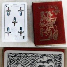 Jeux de cartes: BARAJA ESPAÑOLA FOURNIER DISEÑADA POR MINGOTE 1969 PROPAGANDA ALFOMBRAS UNIVERSAL PRECINTADA. Lote 289891988