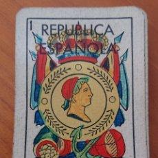 Barajas de cartas: BARAJA REPUBLICA ESPAÑOLA GUERRA CIVIL, ROURA BARCELONA 40 CARTAS MUY RARA. Lote 290349973