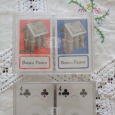 Barajas de cartas: 4 BARAJAS PÓKER BANCO PASTOR. Lote 291197023