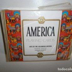 Mazzi di carte: DOBLE BARAJA NAIPES AMERICA PLAYING CARDS - ARTE PRE COLOMBINO - FOURNIER. Lote 293734058