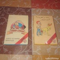 Mazzi di carte: BARAJA INFANTIL FOURNIER LOTE 2 BARAJAS PRECINTADAS. Lote 293933288